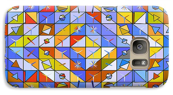 Galaxy Case featuring the digital art A Riot Of Shapes by Mario Carini