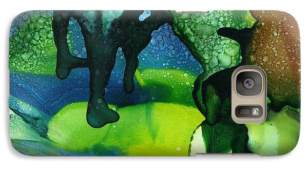 Galaxy Case featuring the painting A River Runs Through It by Yolanda Koh