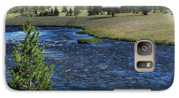 Galaxy Case featuring the photograph A River Runs Through Yellowstone by Laurel Powell