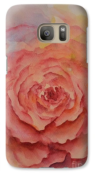 Galaxy Case featuring the painting A Rose Beauty by Kathleen Pio