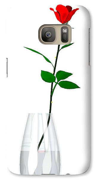 Galaxy Case featuring the digital art A Rose For The Woman I Love... by Tim Fillingim