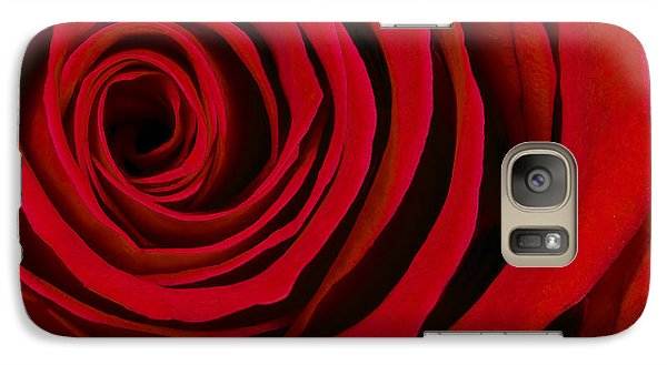 A Rose For Valentine's Day Galaxy Case by Adam Romanowicz