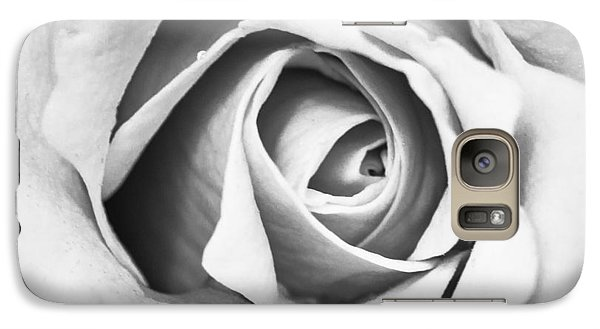 Galaxy Case featuring the photograph A Rose In Black And White by Wade Brooks