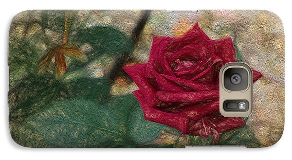 Galaxy Case featuring the digital art A Rose Is A Rose Is A by Terry Cork