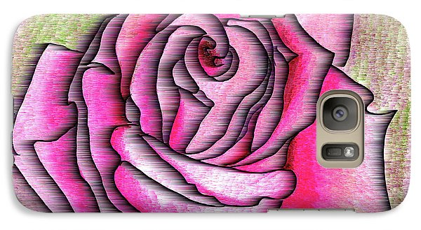 Galaxy Case featuring the drawing A Rose Is A Rose by Mary Bedy