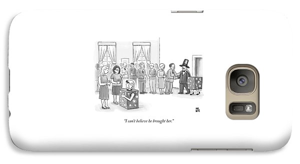 A Sawed-in-half Magician's Assistant Scowls Galaxy S7 Case by Paul Noth