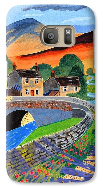 Galaxy Case featuring the painting a Scottish highland lane by Magdalena Frohnsdorff
