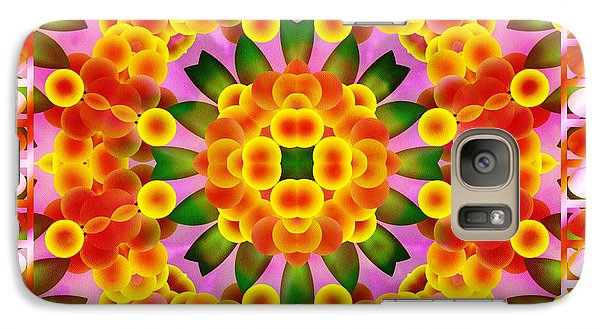 Galaxy Case featuring the digital art A Semblance Of Flowers by Mario Carini