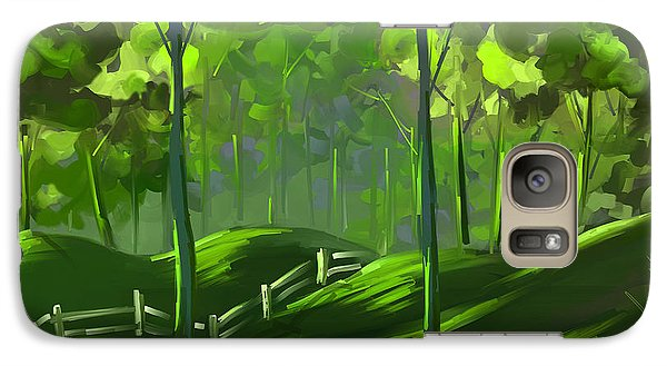 Galaxy Case featuring the painting A Shade Of Green by Steven Lebron Langston