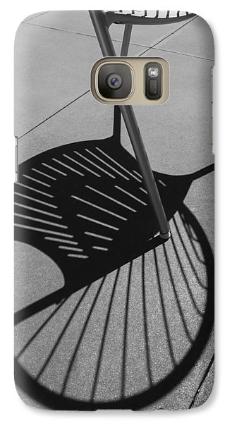 Galaxy Case featuring the photograph A Shadow Cast - Abstract by Steven Milner