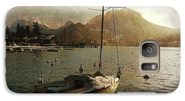 Galaxy Case featuring the photograph A Ship In Port by Barbara Orenya