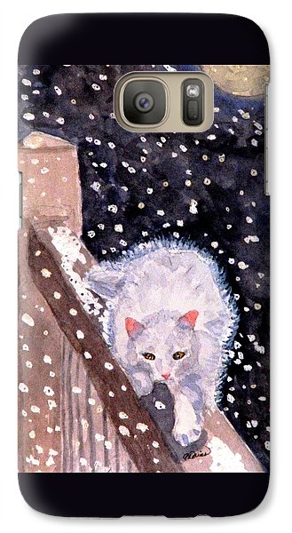 Galaxy Case featuring the painting A Silent Journey by Angela Davies