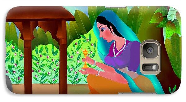 Galaxy Case featuring the digital art A Silent Prayer In Solitude by Latha Gokuldas Panicker
