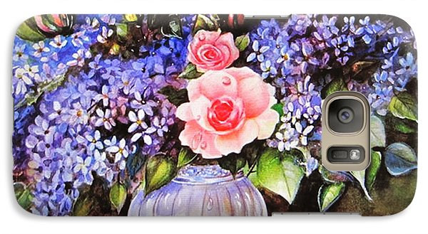 Galaxy Case featuring the painting A Simple Flower by Patricia Schneider Mitchell