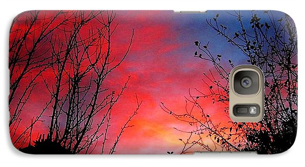 Galaxy Case featuring the pyrography A Sky Made By...fire.. by Cristina Mihailescu