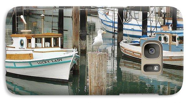 Galaxy Case featuring the photograph A Small Harbor by Hiroko Sakai