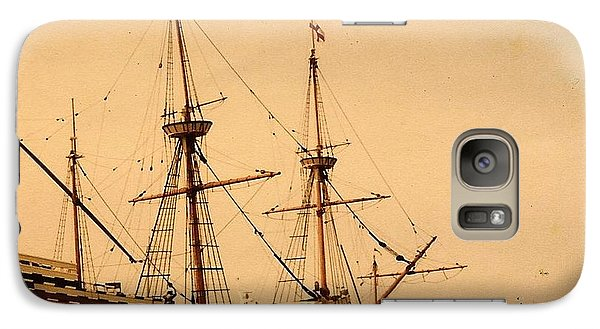 Galaxy Case featuring the photograph A Small Old Clipper Ship by Amazing Photographs AKA Christian Wilson