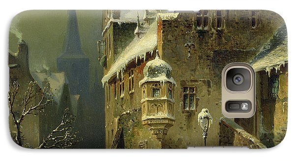 Bass Galaxy S7 Case - A Small Town In The Rhine by August Schlieker