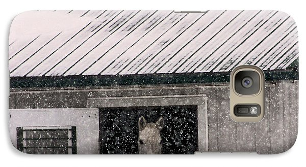 Galaxy Case featuring the photograph A Snowfall At The Stable by Bruce Patrick Smith