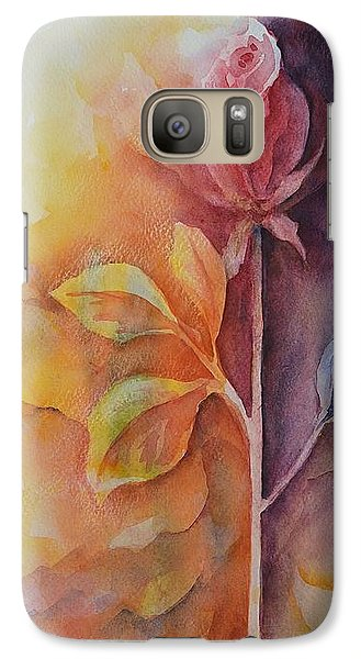 Galaxy Case featuring the painting A Solitary Rose by Kathleen Pio