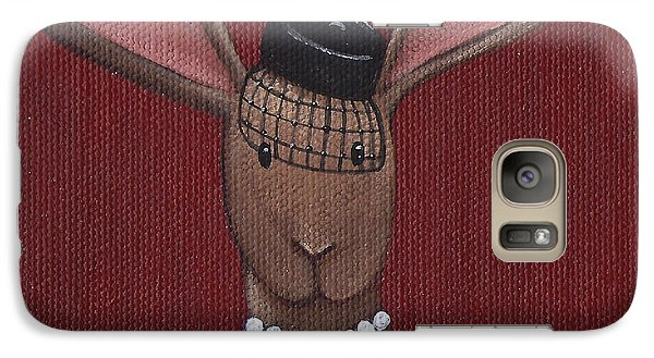 A Sophisticated Bunny Galaxy Case by Christy Beckwith