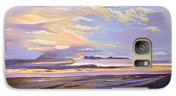 Galaxy Case featuring the painting A South Facing Shore by Donna Blossom