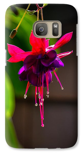 Galaxy Case featuring the photograph A Special Red Flower  by Gandz Photography