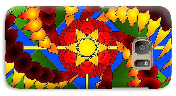 Galaxy Case featuring the digital art A Spiral Mandala by Mario Carini