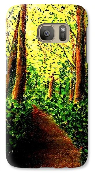 Galaxy Case featuring the painting A Spiritual Awakening by Hazel Holland