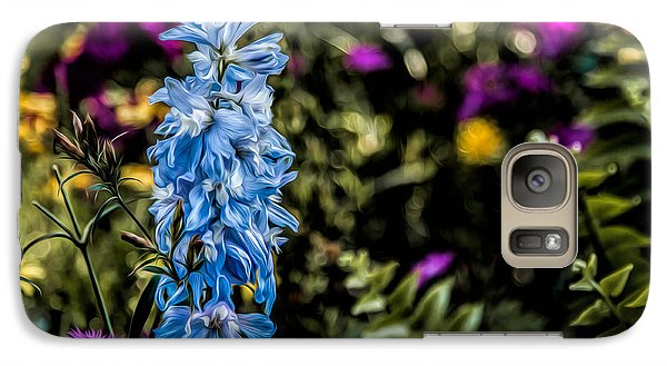 Galaxy Case featuring the photograph A Splash Of Blue by Joshua Minso