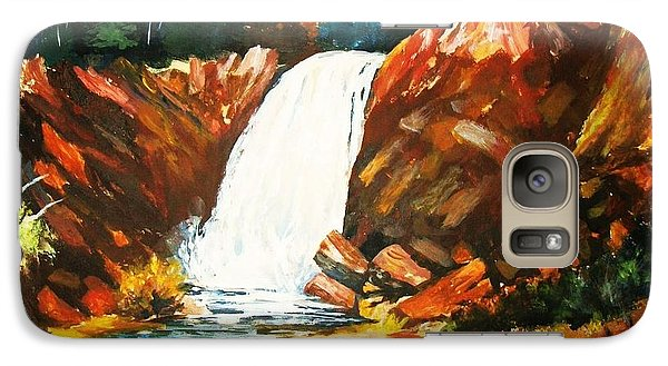 Galaxy Case featuring the painting A Spout In The Forest by Al Brown