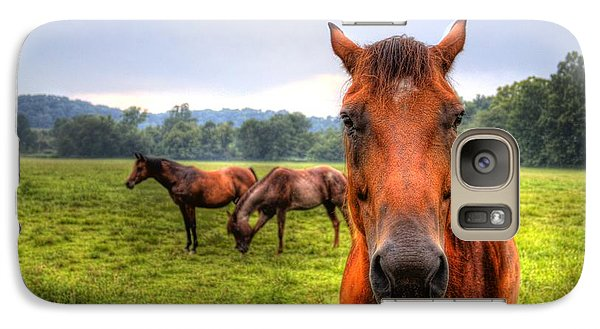 Galaxy S7 Case featuring the photograph A Starring Horse 2 by Jonny D