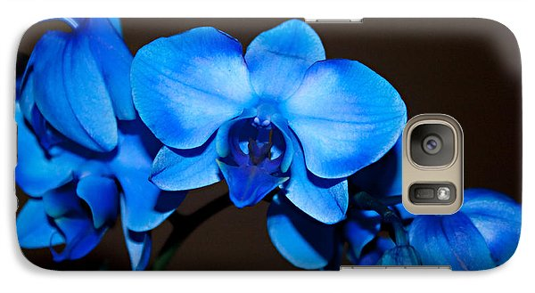 Galaxy Case featuring the photograph A Stem Of Beautiful Blue Orchids by Sherry Hallemeier