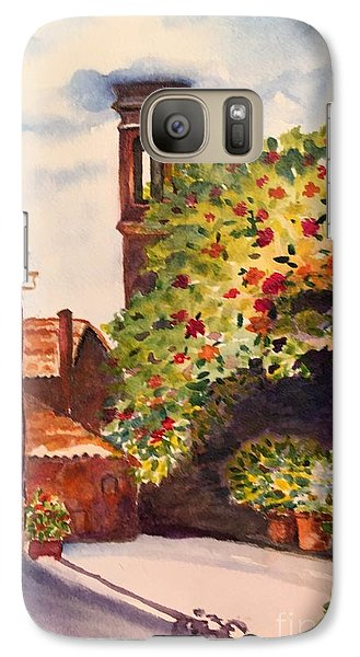 Galaxy Case featuring the painting A Street In Tuscany by Lucia Grilletto