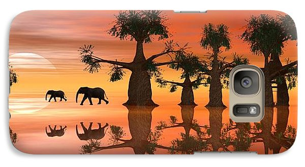 Galaxy Case featuring the digital art A Stroll By Moonlight II by Jacqueline Lloyd