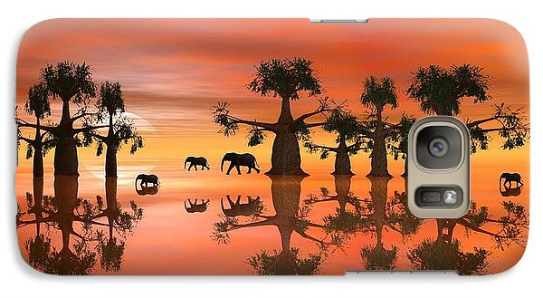 Galaxy Case featuring the digital art A Stroll By Moonlight IIi by Jacqueline Lloyd
