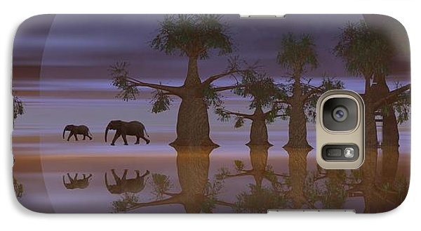 Galaxy Case featuring the digital art A Stroll By Moonlight by Jacqueline Lloyd