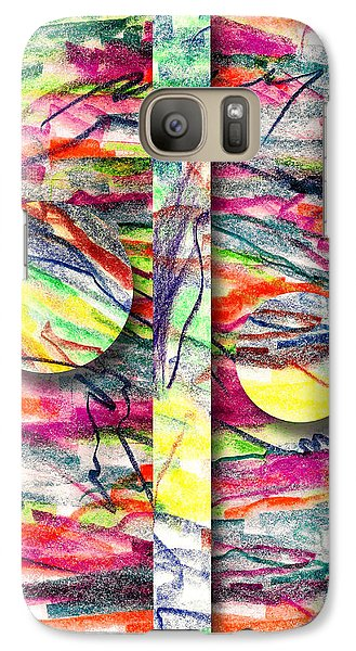 Galaxy Case featuring the drawing A Summers Day Breeze by Peter Piatt