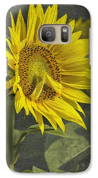 Galaxy Case featuring the photograph A Sunflower's Prayer by Betty Denise