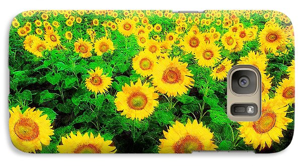 Galaxy Case featuring the painting A Sunny Day With Vincent by Sandy MacGowan