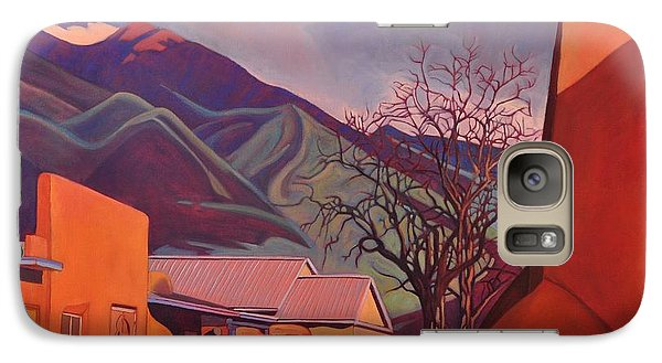 Galaxy Case featuring the painting A Teal Truck In Taos by Art James West