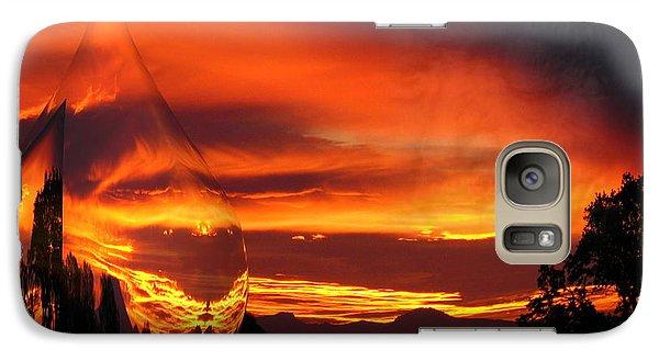 Galaxy Case featuring the digital art A Teardrop In Time by Joyce Dickens