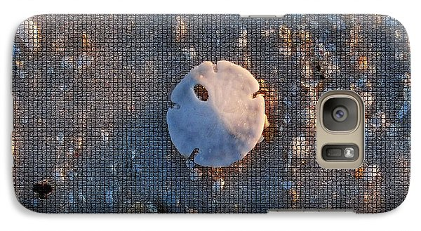 Galaxy Case featuring the photograph A Tiny Sand Dollar by Michele Kaiser