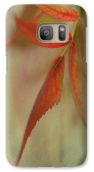 Galaxy Case featuring the photograph A Touch Of Autumn by Annie Snel