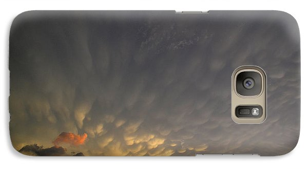 Galaxy Case featuring the photograph A Touch Of Blue 2  by Lyle Crump