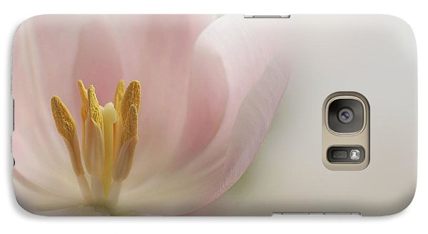 Galaxy Case featuring the photograph A Touch Of Pink by Annie Snel