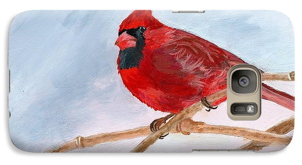 Galaxy Case featuring the painting A Touch Of Red by Lynne Reichhart