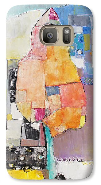 Galaxy Case featuring the painting A Tree by Becky Kim