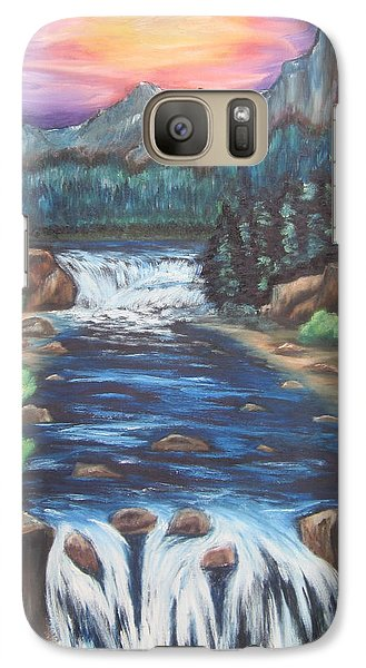 Galaxy Case featuring the painting A Trip Thru The Mind by Cheryl Pettigrew