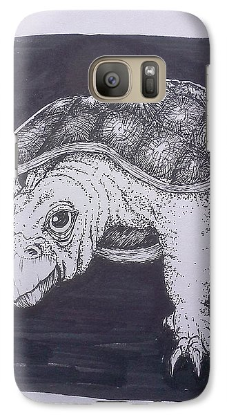 Galaxy Case featuring the painting A Turtle Named Puppy by Richie Montgomery